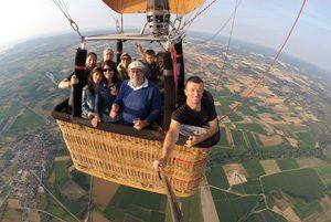 Airona-Foto durante el viaje en globo