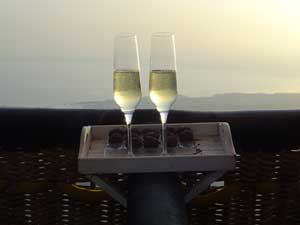 Balloon ride, Cava and Truffles toast on board