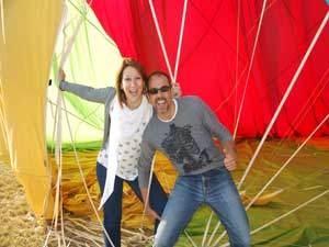 Exclusive balloon flight weekend